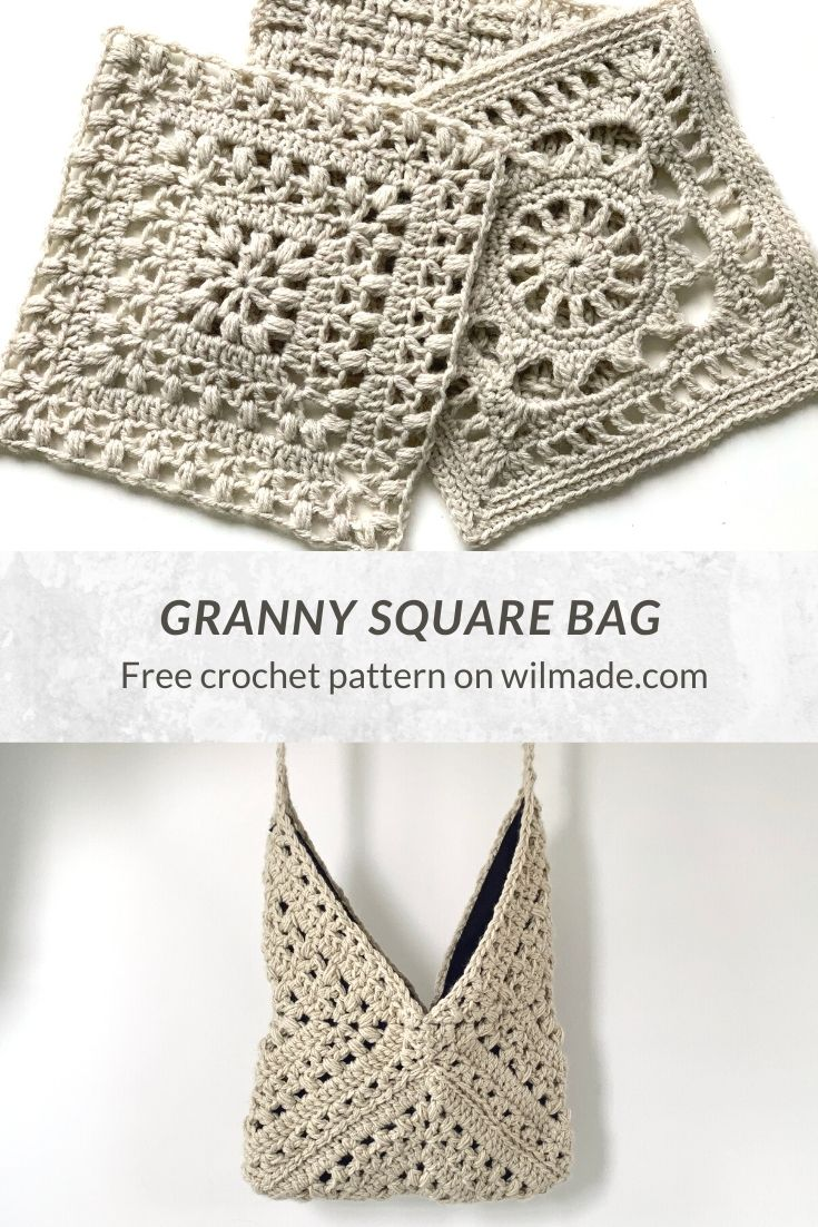 Traveling Afghan #3 Tulips from Holland Square crochet granny square bag pinterest pin