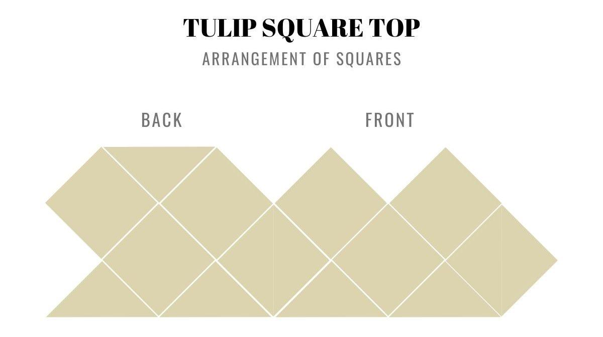 Tulip Square Top - arrangement granny squares