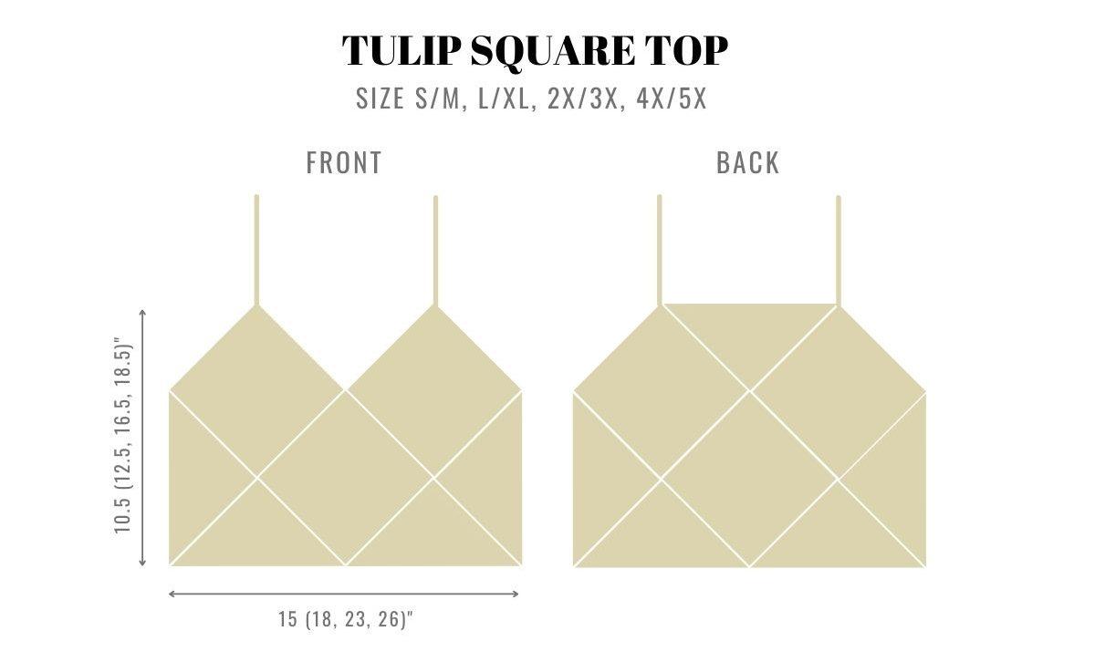 Tulip Square Top measurements