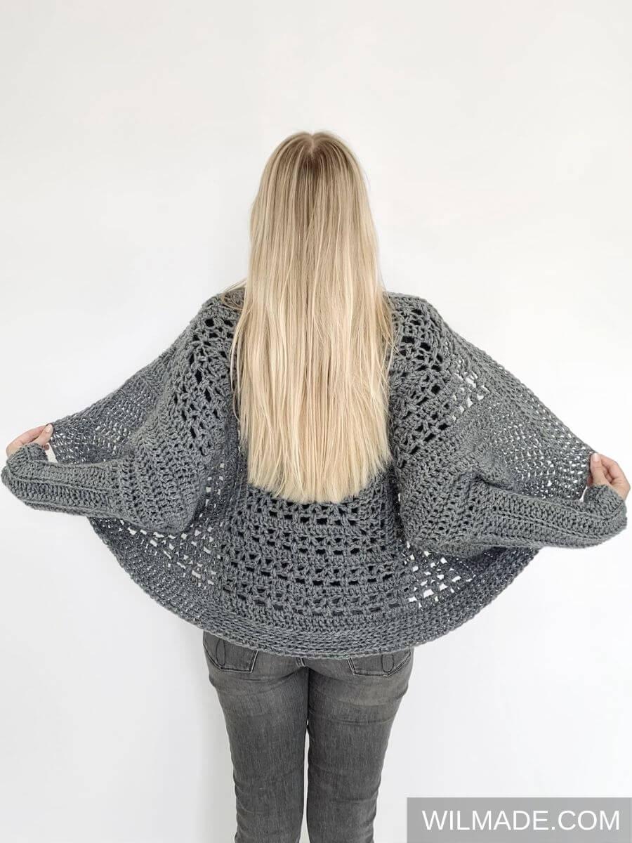 Tulip Granny Square Shrug - free crochet pattern8
